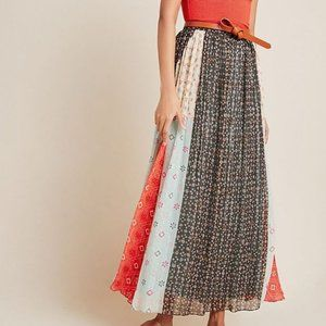 🆕 Anthropologie Margot By Verb Pleated Maxi Skirt